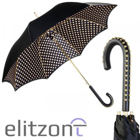 Зонт-трость Pasotti Nero Pois Dossi