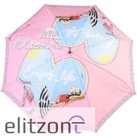 оригинальный зонт москино, женский, полуавтомат