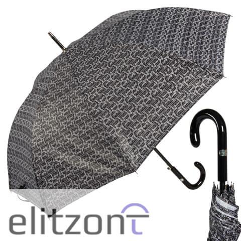 Мужской стильный зонт Baldinini, зонт-трость, прочный с большим куполом