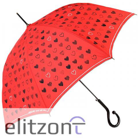 женские зонты трости, красный, летний