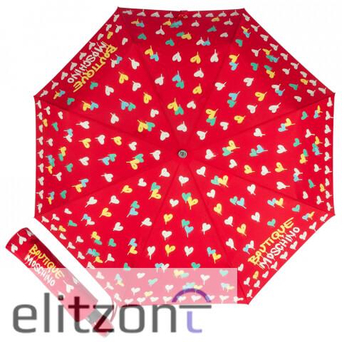 купить красный женский зонт, надежный