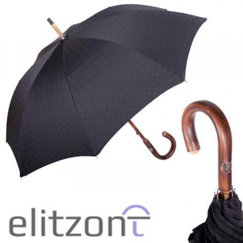 Зонт-трость Pasotti Di Legno Strong Black