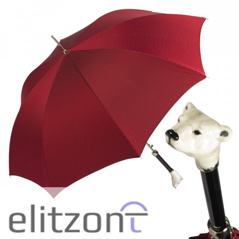 Зонт-трость Pasotti Polar Bear Punto Red Lux