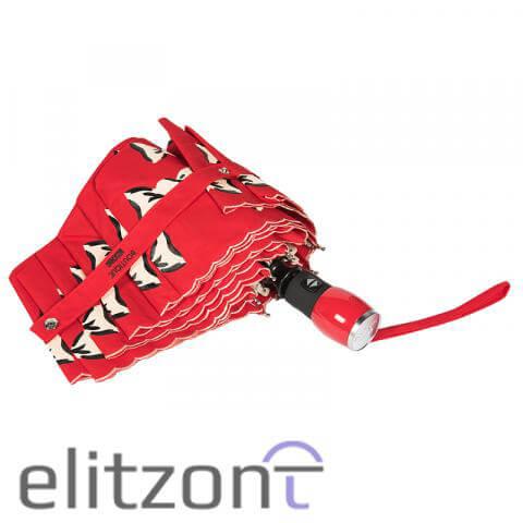 зонты женские, автомат, красный