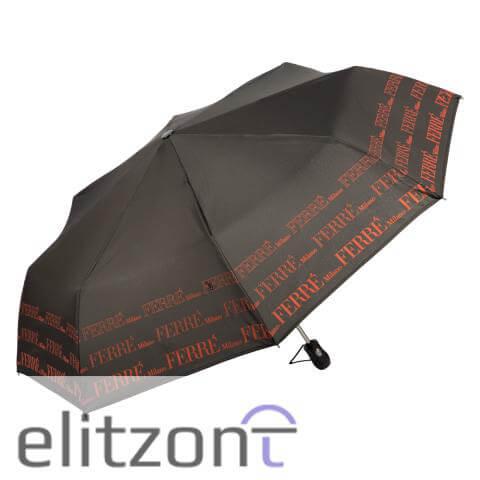 Оригинальный подарок женщине, складной брендовый зонт ферре, автоматический, прочный, система антиветер купить в москве в фирменном магазине
