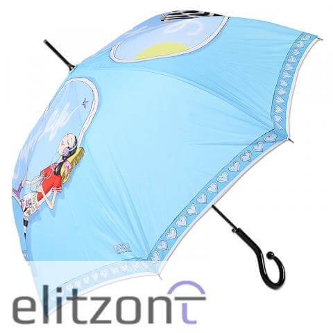 купить женский зонт трость светлый, летний