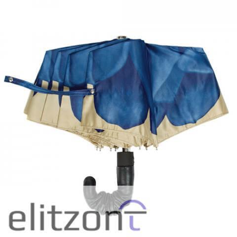 Зонт складной Pasotti Auto Georgin Blu Pelle