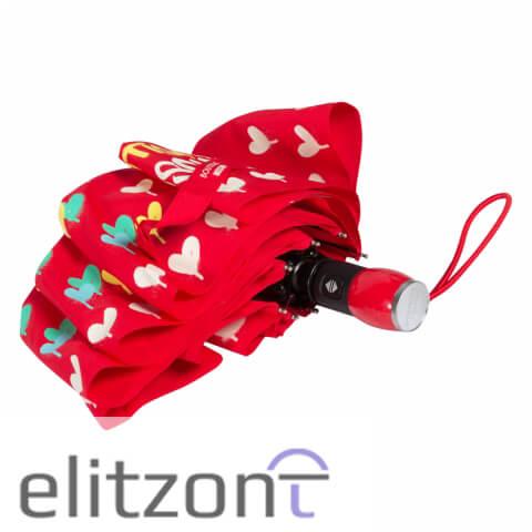 красный зонт, женский, надежный