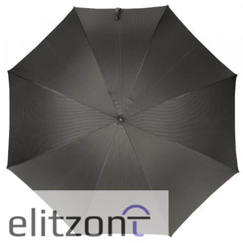 Зонт-трость Pasotti Eagle Silver StripesS Grey сверху