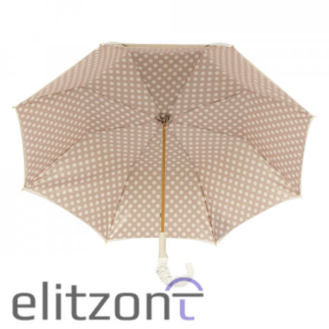 Зонт-трость Pasotti Ivory Pois Pelle