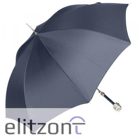 Зонт-трость Pasotti Leone Silver StripesS Dark blu сбоку