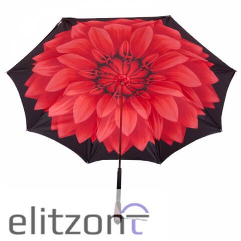 Зонт-трость Pasotti Nero Georgin Rosso Swarovski снизу