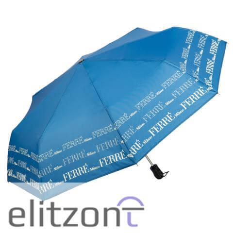 Оригинальный женский зонт Ferre, складной, полный автомат, прочная конструкция, купить в магазине в Москве
