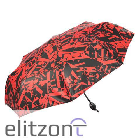 Компактный складной женский зонт Ferre, стильный зонт, система антиветер, удобная ручка