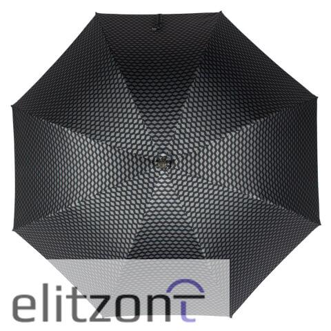 Зонт-трость Pasotti Pelle/Legno Atene Blu сверху