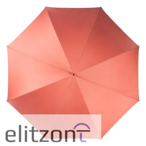 Зонт-трость Pasotti Magenta Daizy Pelle Ivory