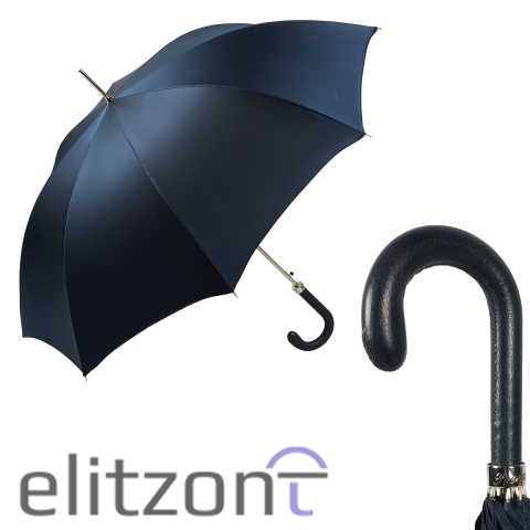 Зонт-трость Pasotti Classic Pelle Oxford Blu