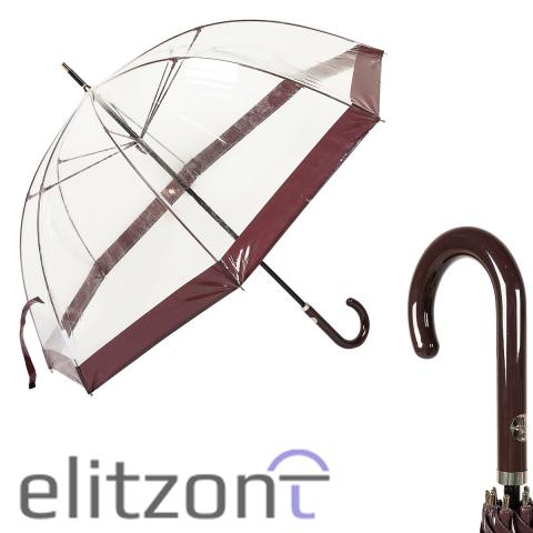 Зонт-трость M&P C4700-LM Transparent Dark Purple