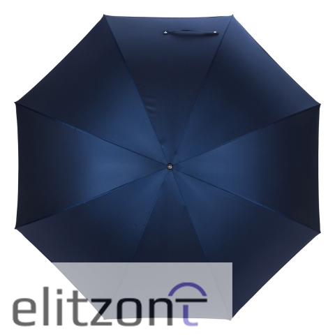 Зонт-трость Pasotti Eagle Pelle Oxford Blu Fodero Anello