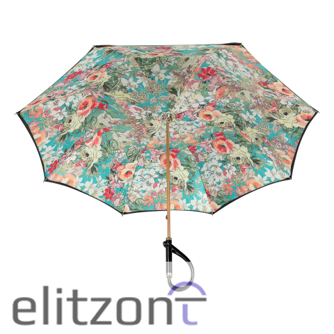 Зонт-трость Pasotti Nero Fiore Pastel Plastica