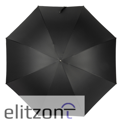 Зонт-трость Pasotti Cobra Silver Oxford Black