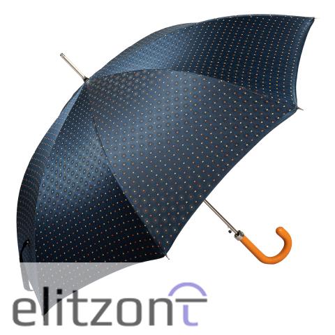 Зонт-трость Pasotti Grana Blu Pelle Orange