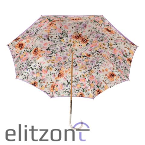 Зонт-трость Pasotti Purpure Garofano Oro Dentell