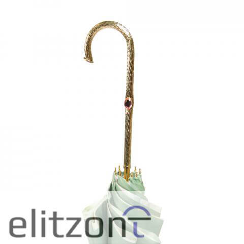 Зонт-трость Pasotti Verde Camelia Oro