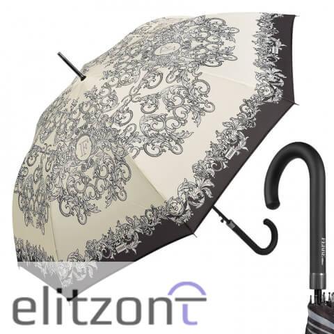 Элитный подарок девушке зонт-трость Ferre, оригинальный, полуавтомат, надежная конструкция, купить в ойициальном магазине в москве
