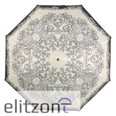 Зонт-трость Ferre, стильный женский зонт, полуавтомат, надежный механизм, светлый женский зонтик
