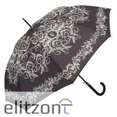 Элитный подарок девушке зонт-трость Ferre, стильный, полуавтомат, с фирменной символикой, удобной ручкой и надежной конструкцией