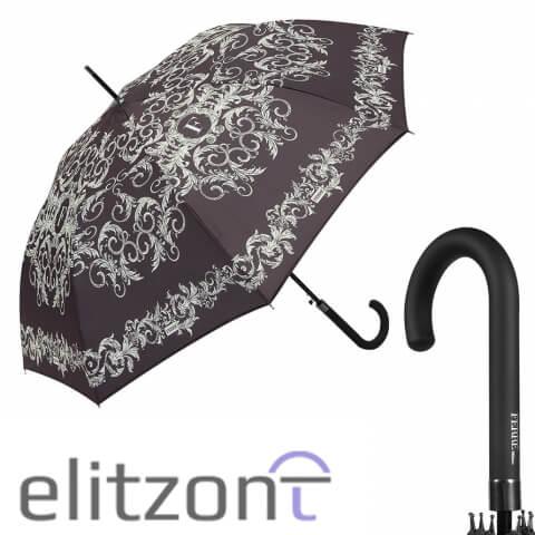 Купить стильный женский зонт-трость Ferre в официальном магазине, полуавтомат, надежная конструкция, доставка по всей России
