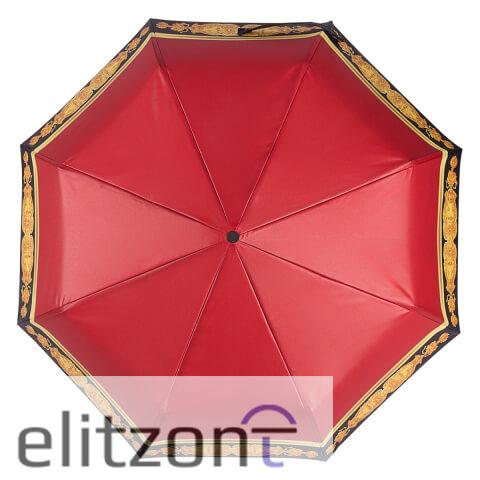 Яркий, красный, женский зонт, складной, компактный, полный автомат, в подарок