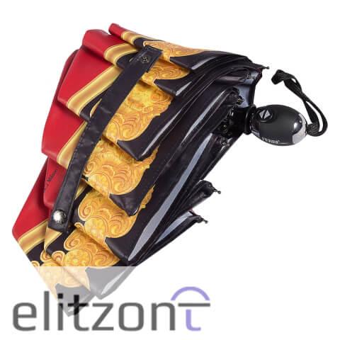 Фирменный зонт Ферре, красный складной зонтик, компактный, полный автомат, система антиветер, купить в официальном магазине