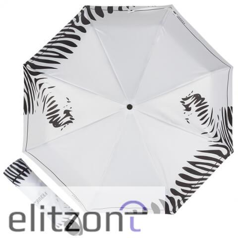 Женский складной зонт Ferre, белый стильный зонт -зонтик, полный автомат, система антиветер, легкий, компактный