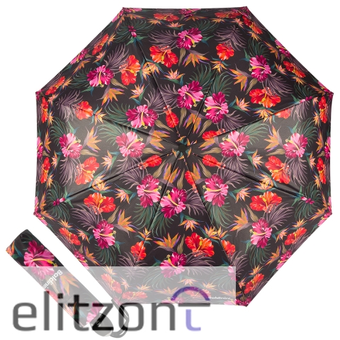 Складной яркий женский зонт Baldinini из новой коллекции, автоматический, система антиветер, легкий компактный