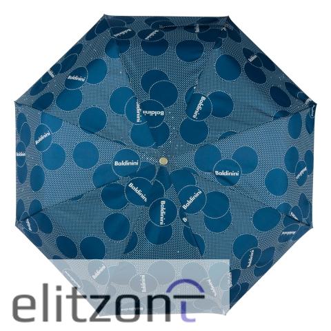 Подарок коллеге, стильный складной зонт балдинини, атовматический, легкий, прочный, нужный подарок