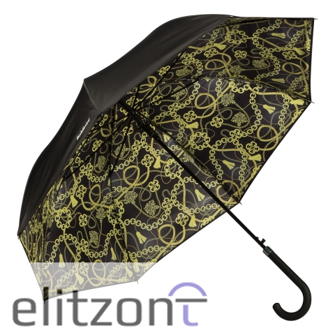 Элитный женский подарок, оригинальный зонт-трость Baldinini, двойной купол, стильный аксессуар, фирменные зонты в Москве
