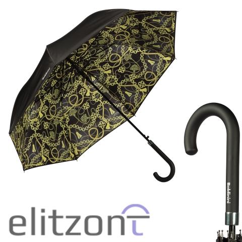 Женский зонт-трость Baldinini, модный аксессуар, полуавтомат, прочный, стильный зонт, купить оригинал в Москве в магазине Elitzont