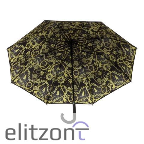 Оригинальные зонты в Москве, Зонт-трость Балдинини, женский, новая коллекция, крепкий, надежный, полуавтомат, удобная ручка, официальный магазин в Москве