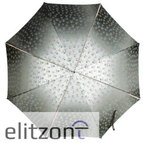Зонт-трость Pasotti Capo Silver Picco Sculls Grigio сверху