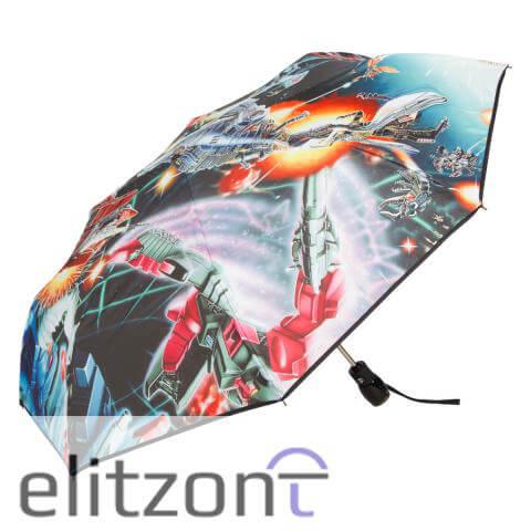стильный женский зонт, складной, надежный