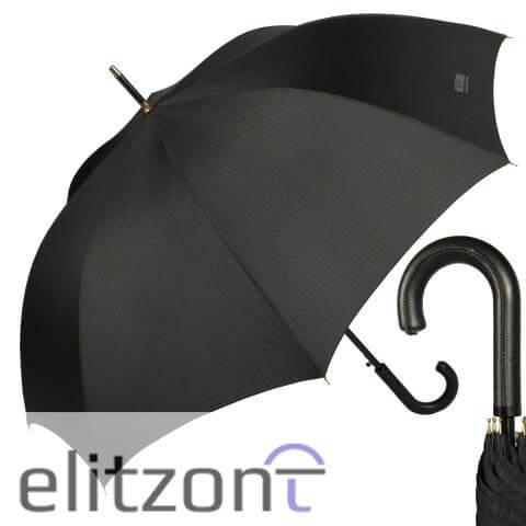 купить мужской зонт трость, черный
