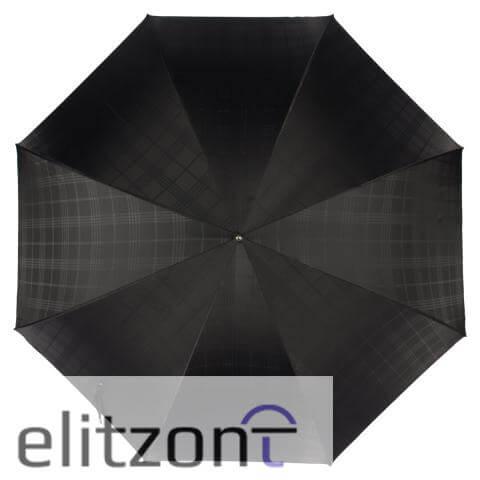 Зонт-трость Pasotti Fido Silver Сell Black сверху