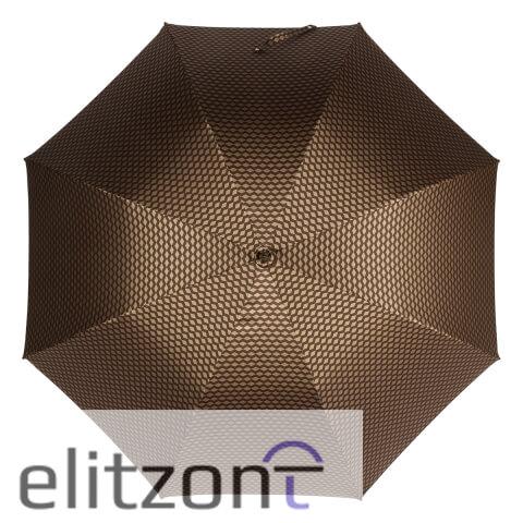 Зонт-трость Pasotti Esperto Classic Pelle Atene Marrone