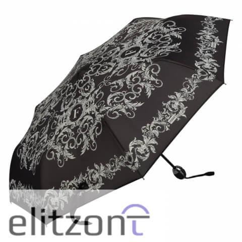 Элитный подарок девушке фирменный зонт ферре, женский, складной, полный автомат, система антиветер, купить в москве в официальном магазине