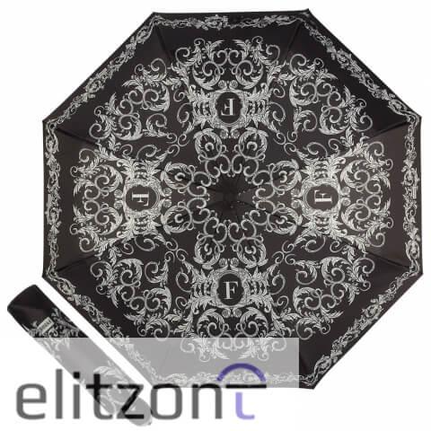 Купить складной женский зонт ферре, стильный, с фирменной символикой, полный автомат, легкий, компактный