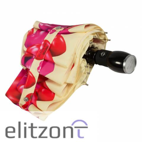 летний зонт, стильный, с сердечками