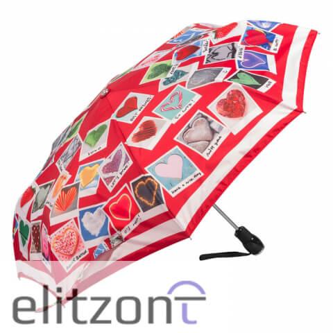 стильные зонты, красные