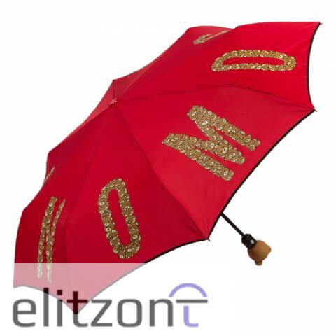 купить оригинальный зонт Moschino в Москве, яркий, летний, модный зонт, зонт с Мишкой